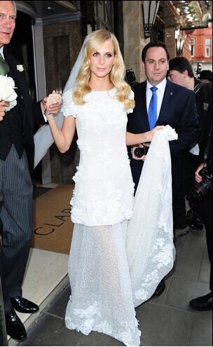 ein Hochzeitskleid benutzerdefinierte unterzeichnet Chanel