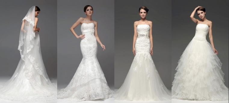 Moderne Brautkleider günstig Online kaufen.