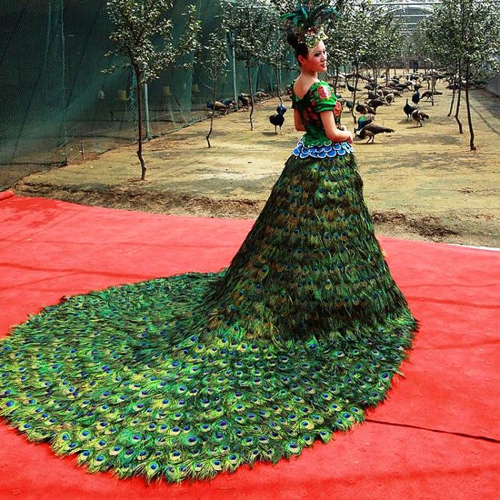 Peacock-Hochzeitskleid