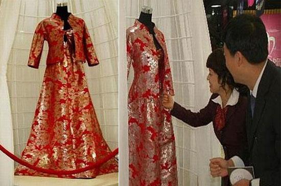 Platin Hochzeitskleid