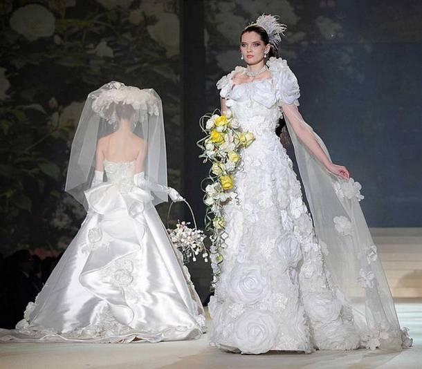 Yumi Katsura Weissgold Kleid
