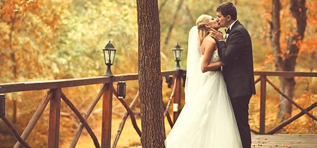 Hochzeits Foto im Herbst