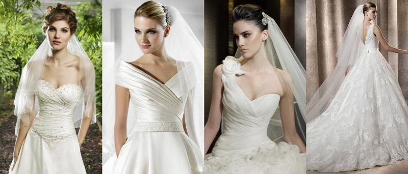 Schöne langes weißes Brautkleider Online bei PERSUN