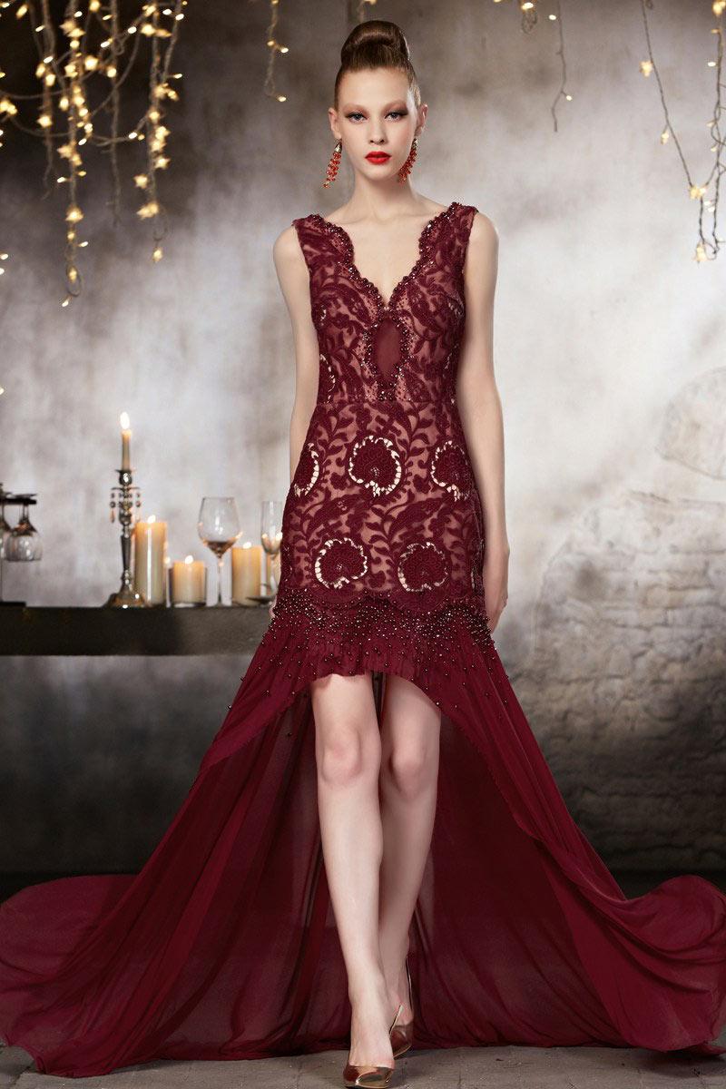 Langes rotes Abendkleider