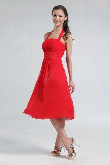 Schönes rotes kurzes Brautjungfernkleid