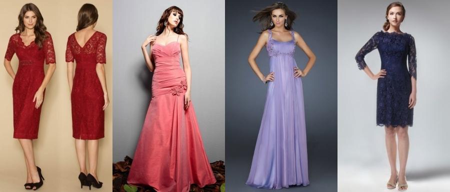 Schöne Kleider für Hochzeitfeier