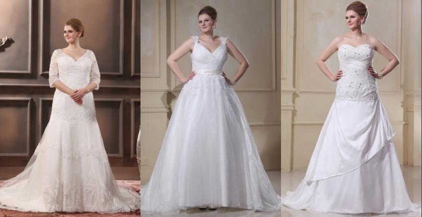 Schöne Brautkleider für Mollige 2015 Online