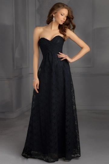 Schöne schwarzes Herz Ausschnitt bodenlanges Abendkleider Online