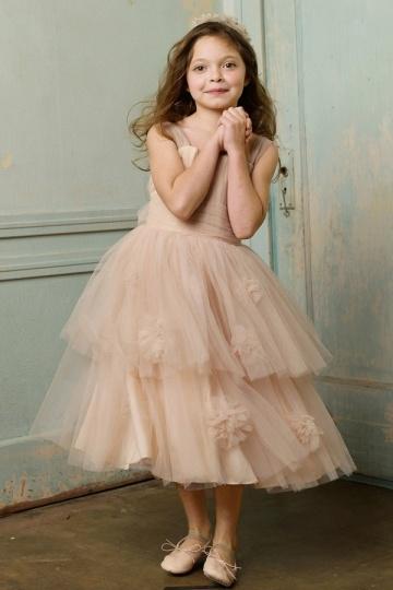 Elegantes Blumenmädchenkleider Online Billig Kaufen