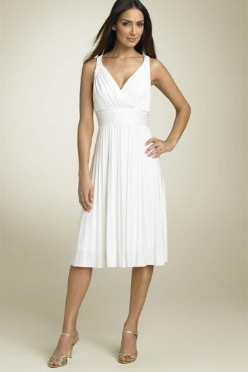 Knielanges Weißes Brautkleider Online