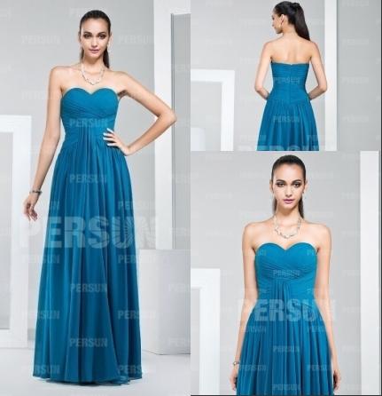 Modisches Langes Blaues Abendkleider