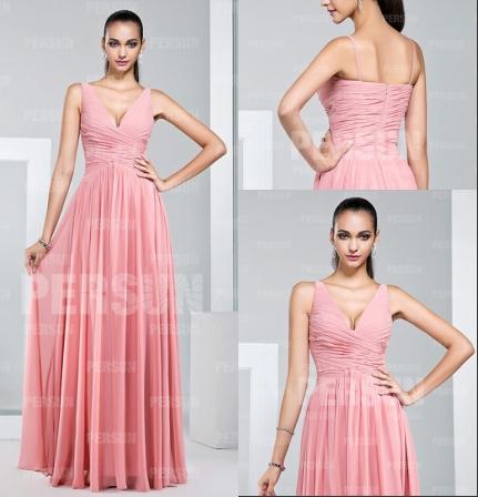 Schönes Neues Rosa Langes Abendkleider