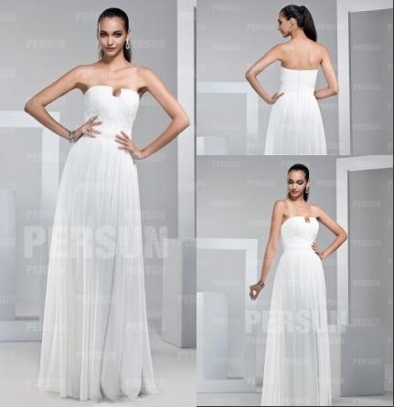 Elegantes Langes Weißes Abendkleider