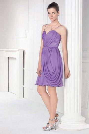 Schönes Lila Kurzes Abendkleider aus Chiffon