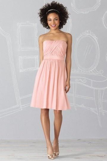 Schönes Knielanges Rosa Brautjungferkleid
