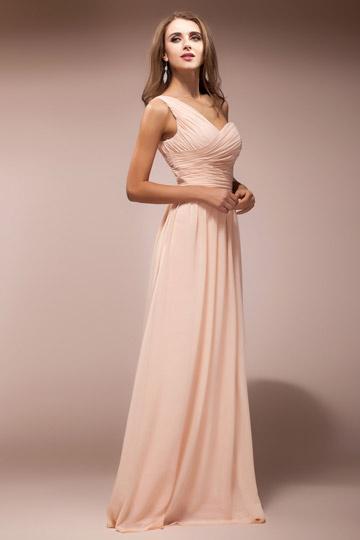 Elegantes Rosa Langes Ein Schulter Brautjungferkleider