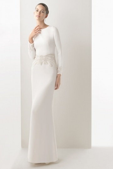 Etui Linie Ivory Brautkleider-Persunkleid.de