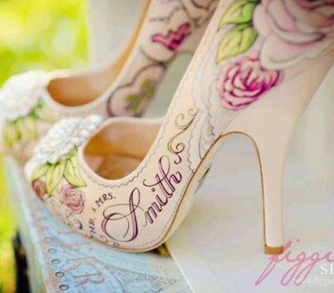 Brautschuhe-Malen